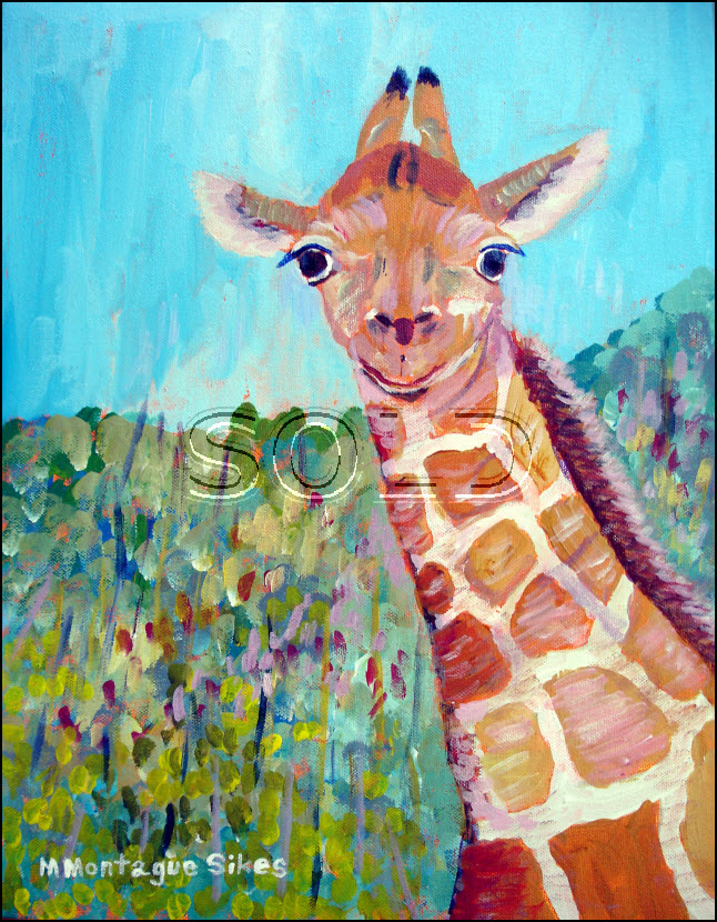 Giraffe large sold